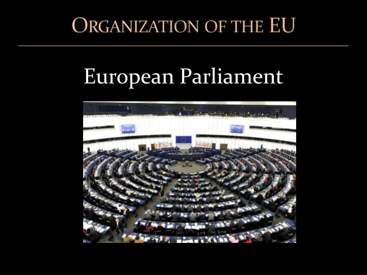 Organization of the EU