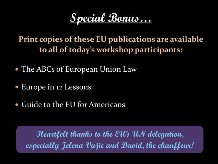 Special Bonus…