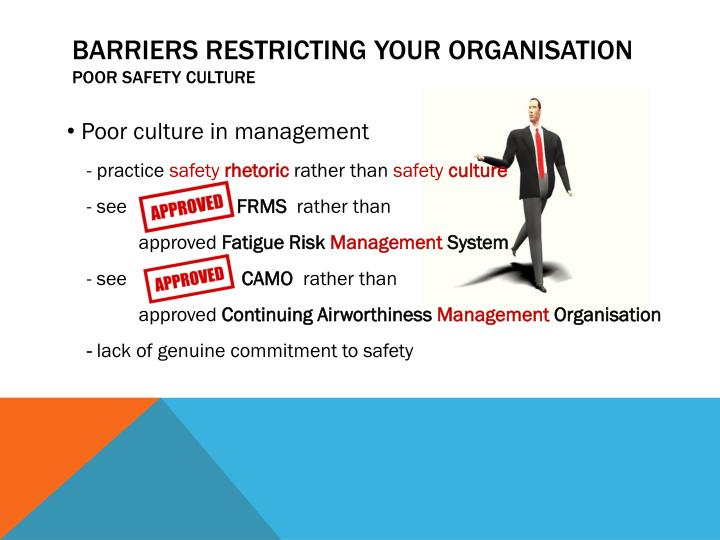 barriers restricting your organisation