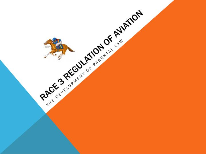 Race 3 regulation of aviation