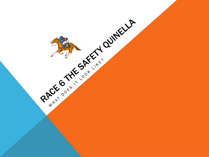 Race 6 the safety quinella