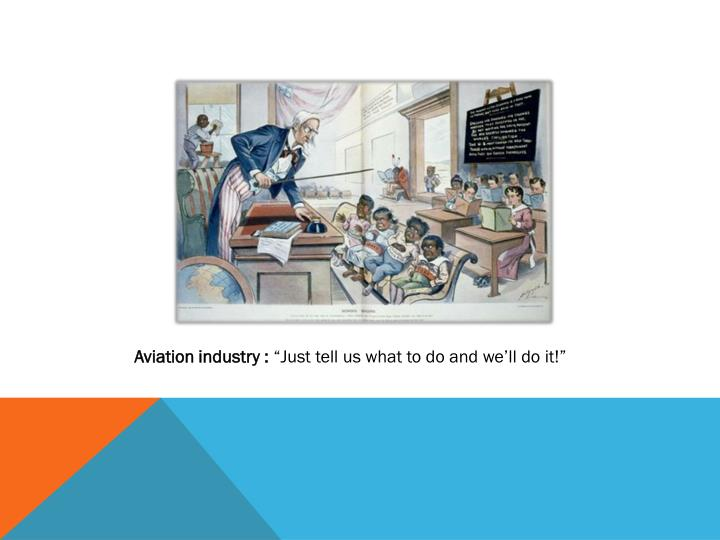 Aviation industry :