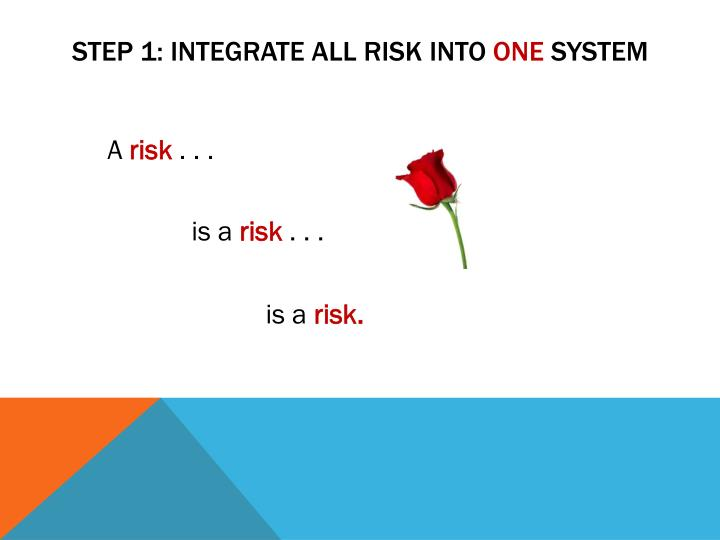 STEP 1: integrate all risk into