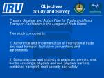 objectives study and survey