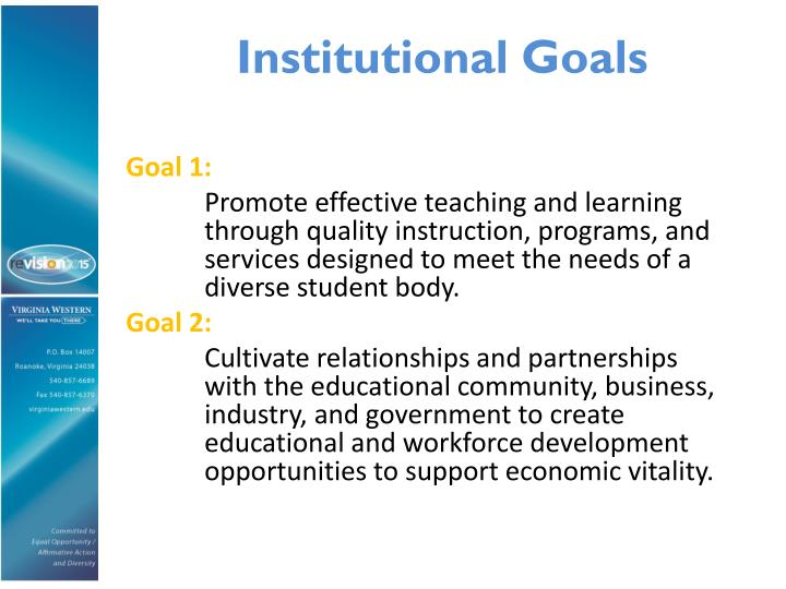 Institutional Goals