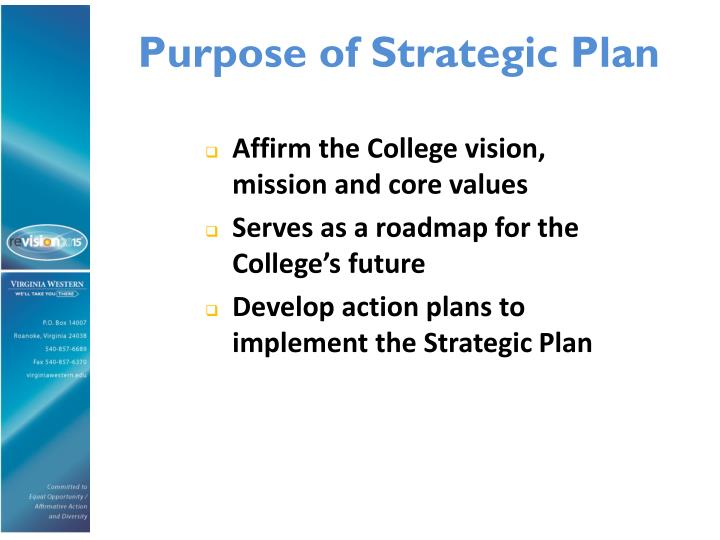 Purpose of Strategic Plan