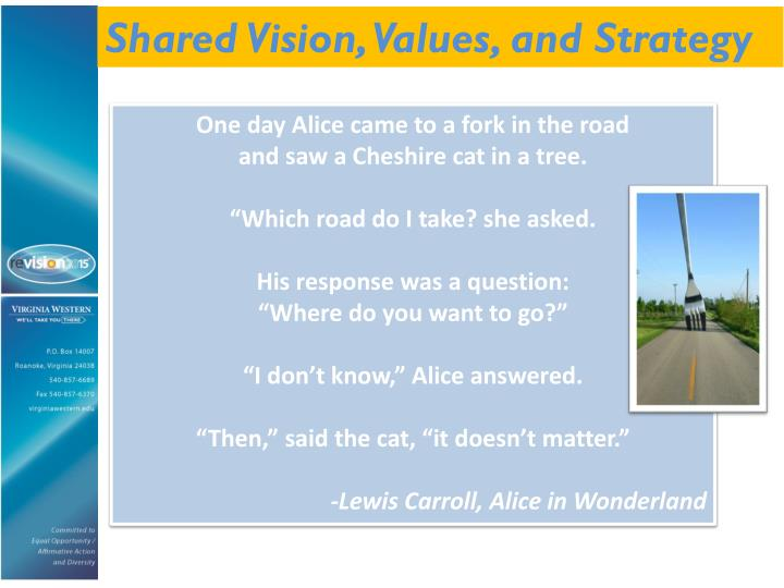 Shared Vision, Values, and Strategy