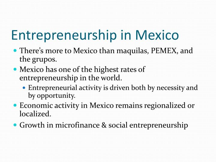 Entrepreneurship in Mexico