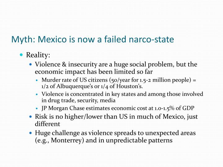 Myth: Mexico is now a failed