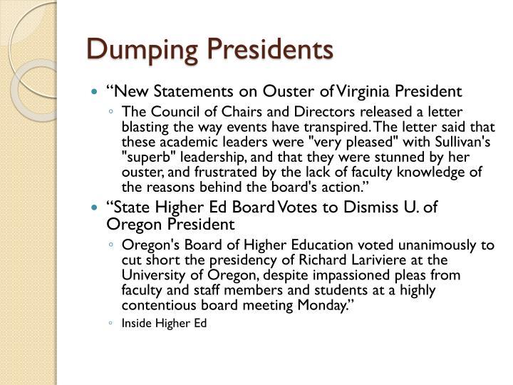 Dumping Presidents