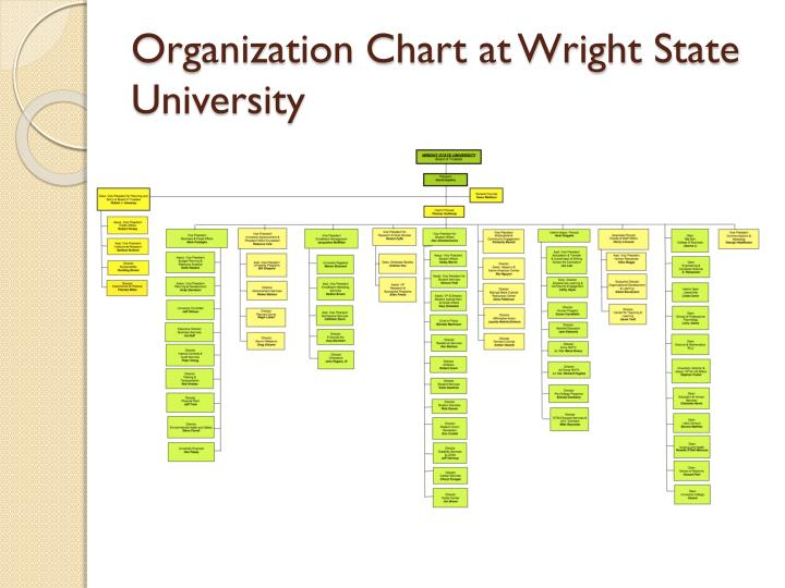 Organization Chart at Wright State University