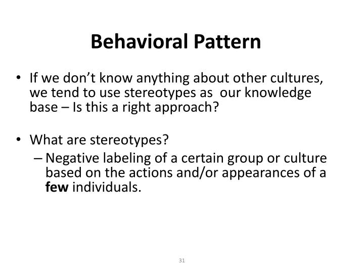 Behavioral Pattern