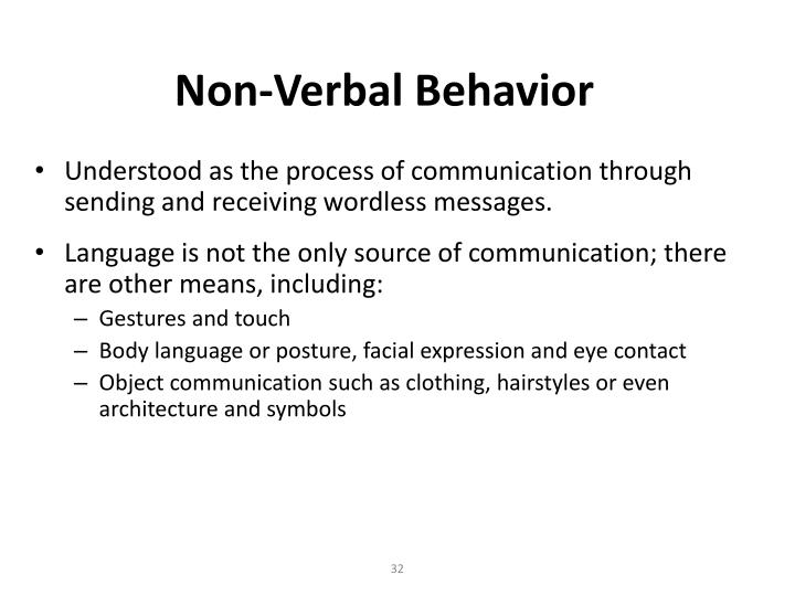 Non-Verbal Behavior