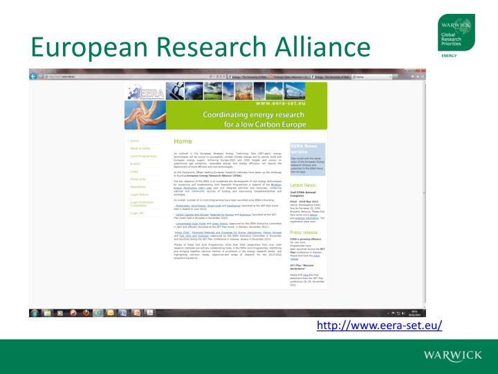 European Research Alliance