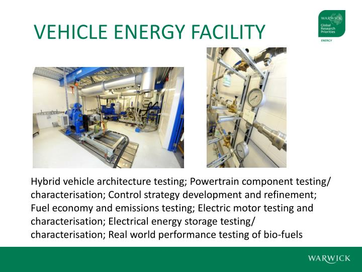 VEHICLE ENERGY FACILITY