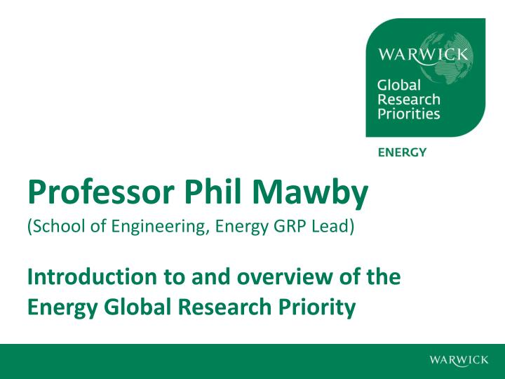 Professor Phil Mawby