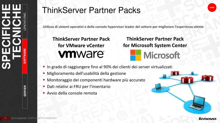 ThinkServer Partner Packs
