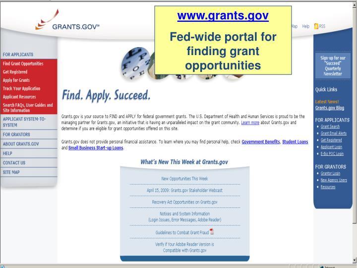 www.grants.gov