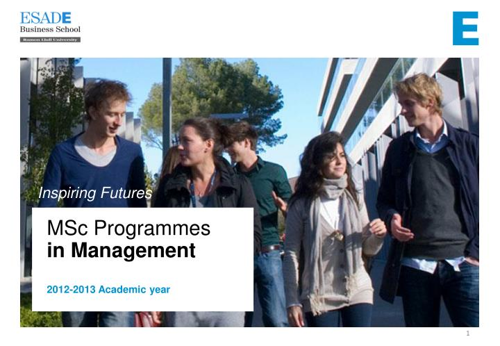 Msc programmes in management