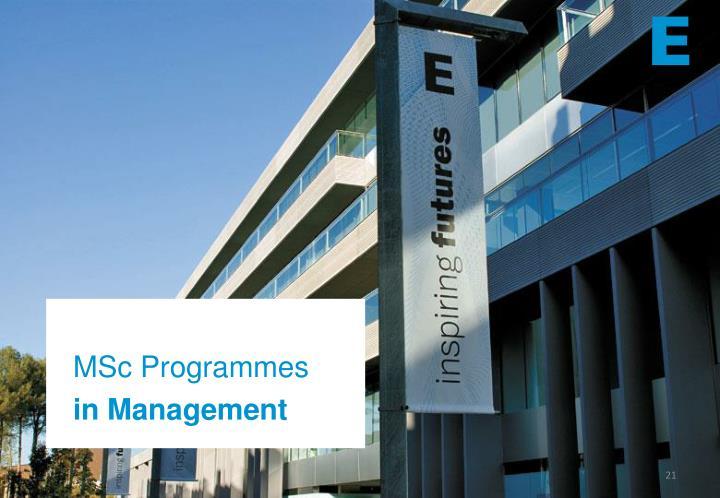 MSc Programmes