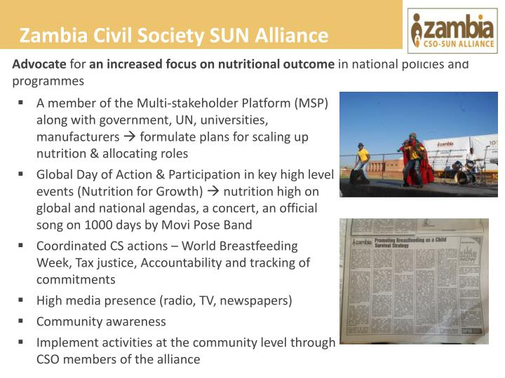 Zambia Civil Society SUN Alliance