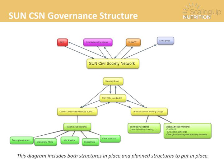 SUN CSN Governance Structure