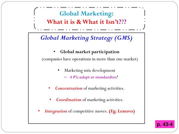 Global Marketing: