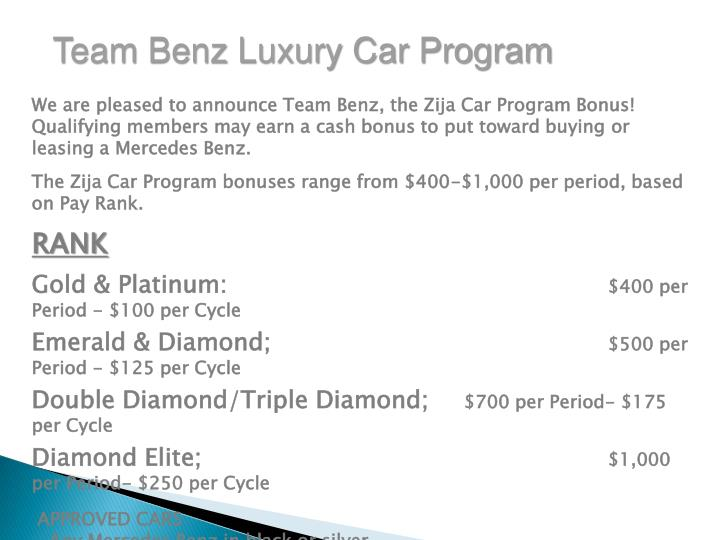 Team Benz Luxury Car Program