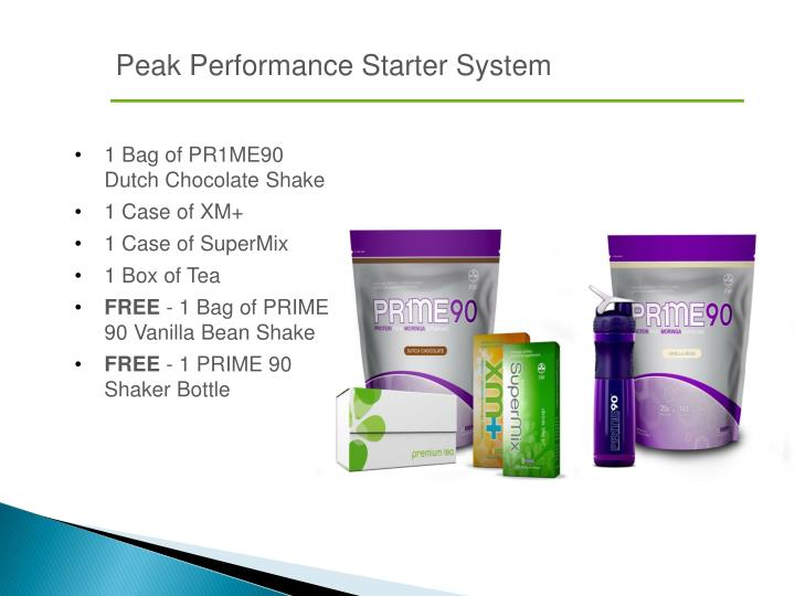 Peak Performance Starter System