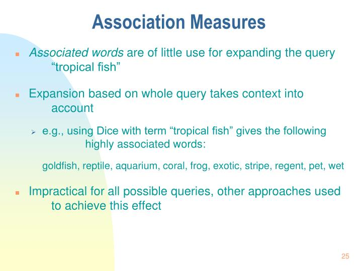 Association Measures