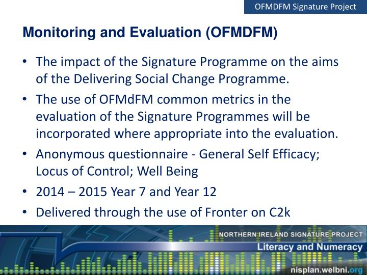 OFMDFM Signature Project