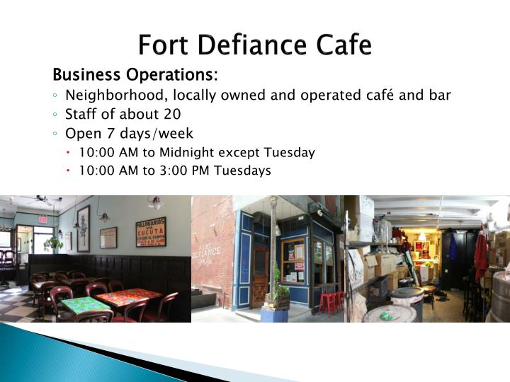 Fort Defiance Cafe