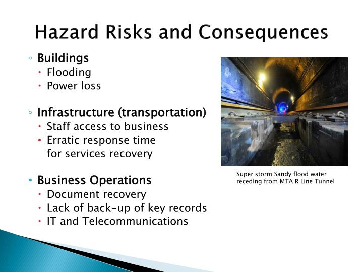 Hazard Risks and Consequences
