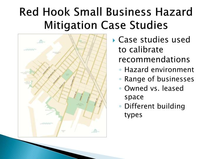 Red hook small business hazard mitigation case studies