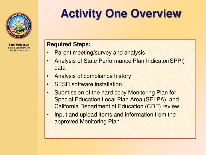 Activity One Overview
