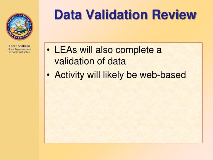 Data Validation Review