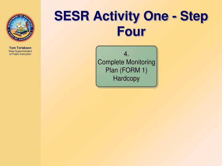 SESR Activity One - Step Four