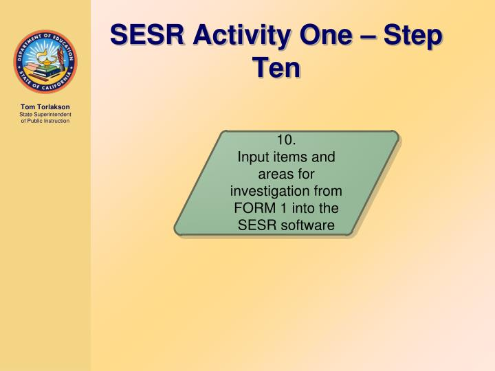 SESR Activity One – Step