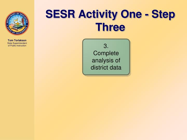 SESR Activity One - Step Three