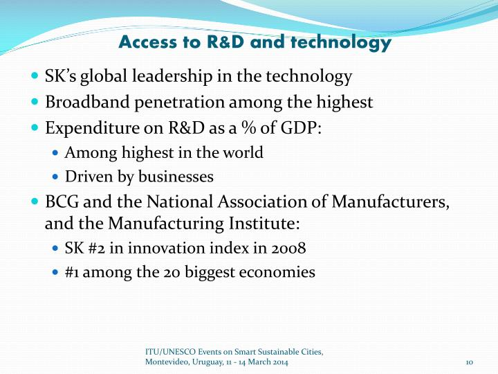 Access to R&D and technology