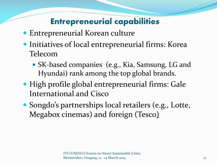 Entrepreneurial capabilities