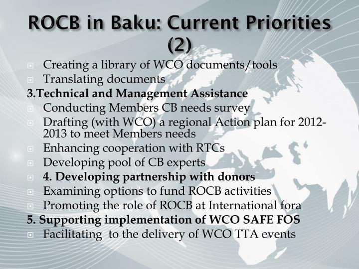 ROCB in Baku: Current Priorities (2)