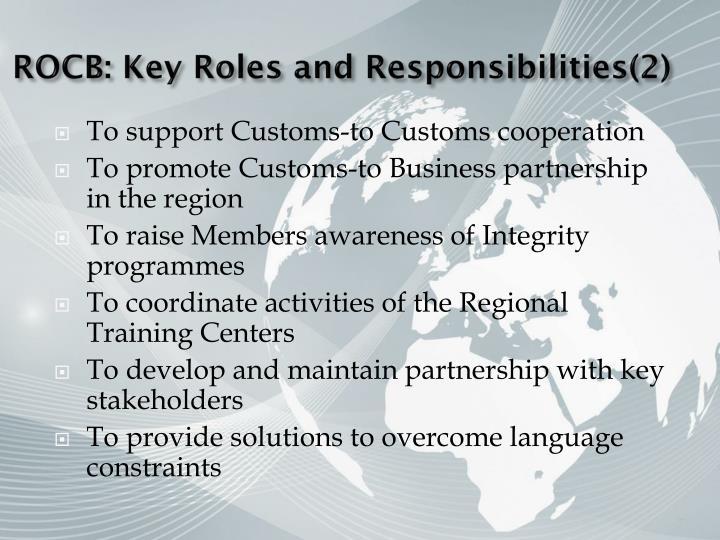 ROCB: Key Roles and Responsibilities(2)