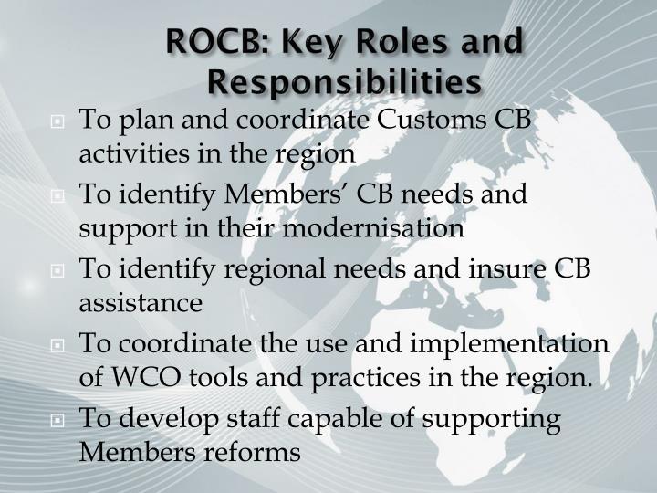 ROCB: Key Roles and Responsibilities