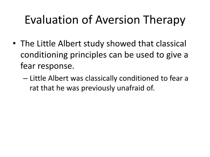 Evaluation of Aversion Therapy