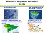 four most important economic blocks
