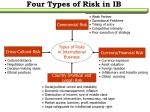 four types of risk in ib1