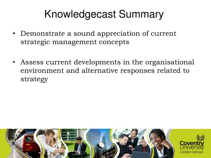 Knowledgecast Summary