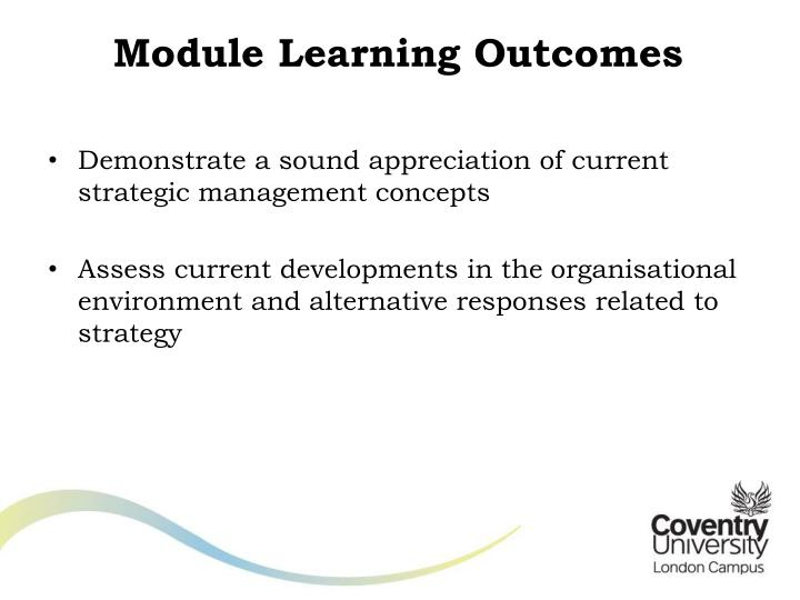 Module learning outcomes