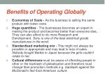 benefits of operating globally